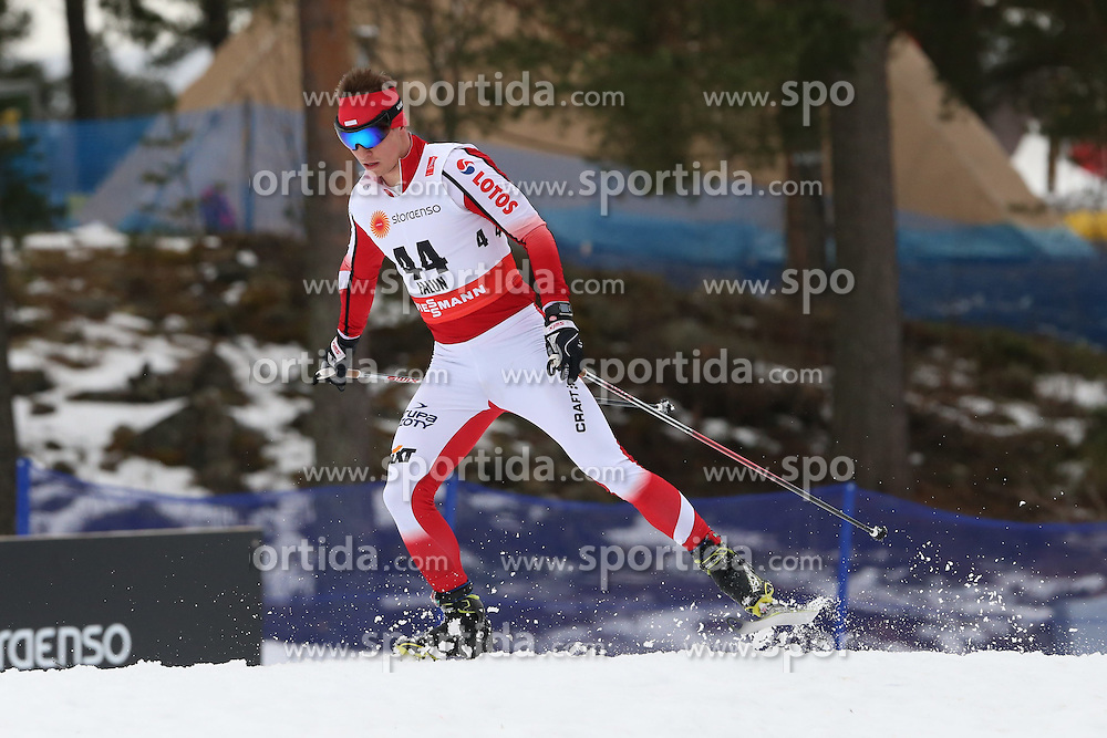 25.02.2015, Lugnet Ski Stadium, Falun, SWE, FIS Weltmeisterschaften Ski Nordisch, Falun 2015, Langlauf, Herren, 15km, im Bild MACIEJ STAREGA // during the Mens 15km Cross Country Race of the FIS Nordic Ski World Championships 2015 at the Lugnet Ski Stadium in Falun, Sweden on 2015/02/25. EXPA Pictures &copy; 2015, PhotoCredit: EXPA/ Newspix/ Tomasz Markowski<br /> <br /> *****ATTENTION - for AUT, SLO, CRO, SRB, BIH, MAZ, TUR, SUI, SWE only*****