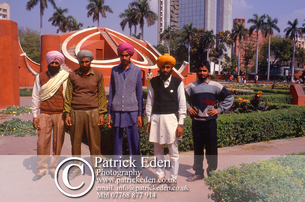 Sikhs, Jantar Mantar, Delhi, India, photograph photography