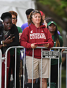 Washington State Cougars coach Julie Taylor during the NCAA West Track & Field Preliminary, Saturday, May 25, 2019, in Sacramento, Calif.