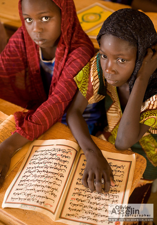 Girls in classroom at the Mame Diarra Bousso koranic school in the village of Porokhane, Senegal, on Monday June 18, 2007.