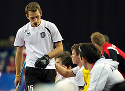 LEIZPIG - WC HOCKEY INDOOR 2015<br /> AUT v IRI (Semi Final 2)<br /> STEYRER Florian<br /> FFU PRESS AGENCY COPYRIGHT FRANK UIJLENBROEK