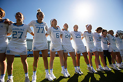 CHAPEL HILL, NC - MARCH 02: North Carolina Tar Heels during a game against the Northwestern Wildcats on March 02, 2019 at the UNC Lacrosse and Soccer Stadium in Chapel Hill, North Carolina. North Carolina won 11-21. (Photo by Peyton Williams/US Lacrosse)