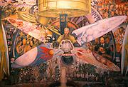 MEXICO, MEXICO CITY, MURAL Rivera's 'Man Creator of the Universe'