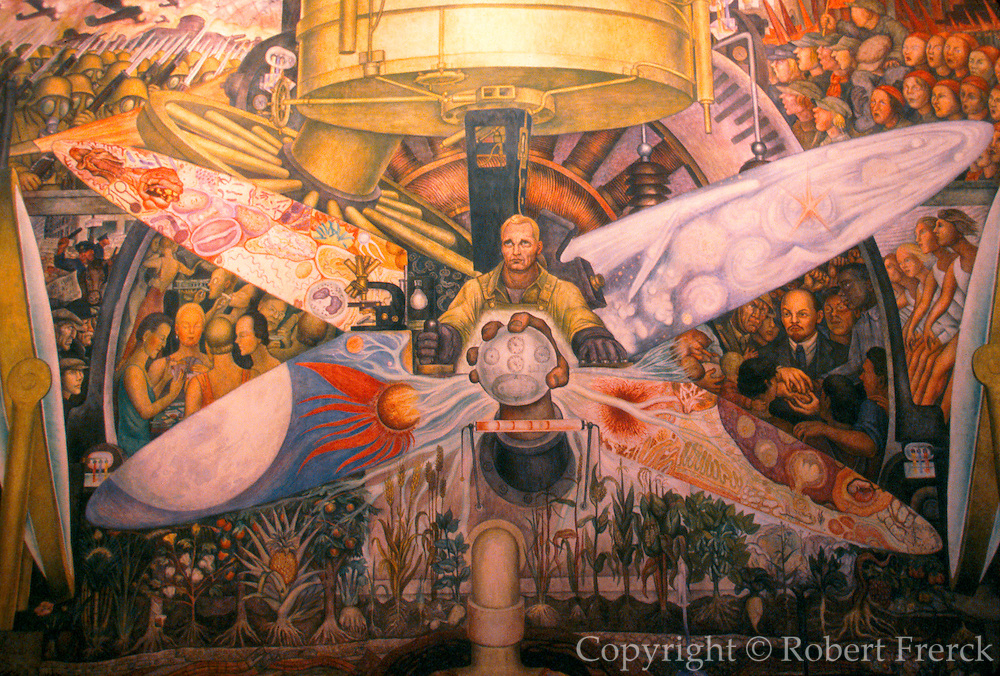 MEXICO, MEXICO CITY, MURAL Rivera's 'Man Creator of the Universe'