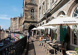 Scotts restaurant on Victoria Terrace in Old Town of Edinburgh , Scotland, UK
