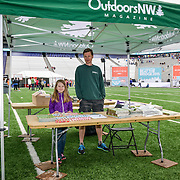 33rd Annual Nordstrom Beat the Bridge Run, May 2015, Seattle. Sponsor booth - Outdoors NW Magazine.