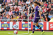 Tottenham Hotspur forward Son Heung-Min with a corner  during the Barclays Premier League match between Sunderland and Tottenham Hotspur at the Stadium Of Light, Sunderland, England on 13 September 2015. Photo by Simon Davies.