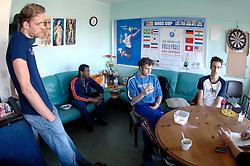 04-04-2006  VOLLEYBAL: HVA AMSTERDAM: AMSTERDAM<br /> Reportage van HVA Amsterdam / Ramsy Mauricia, Niels Klapwijk, Thijs Van Noorden, Yannick van Harskamp en Niels Koomen<br /> ©2005-WWW.FOTOHOOGENDOORN.NL