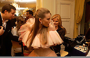 Mariel Hemingway and Dree Crisman, Getting ready before the  Thirteenth Annual Crillon Haute Couture Ball. Paris,  29 November 2003. © Copyright Photograph by Dafydd Jones 66 Stockwell Park Rd. London SW9 0DA Tel 020 7733 0108 www.dafjones.com