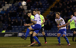 Jack Baldwin of Peterborough United in action with Peter Clarke of Bury - Mandatory by-line: Joe Dent/JMP - 13/03/2018 - FOOTBALL - Gigg Lane - Bury, England - Bury v Peterborough United - Sky Bet League One