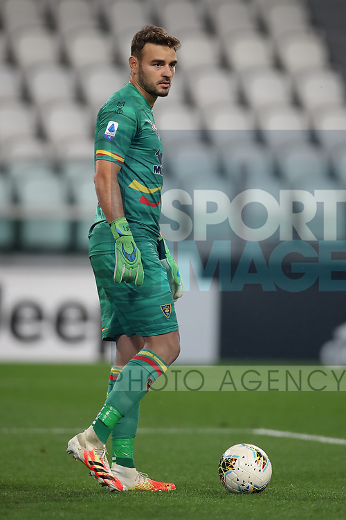 Lecce's Brazilian goalkeeper Gabriel during the Serie A match at Allianz Stadium, Turin. Picture date: 26th June 2020. Picture credit should read: Jonathan Moscrop/Sportimage