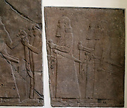 Palace Relief alabaster 704-689 BC. Assyrian