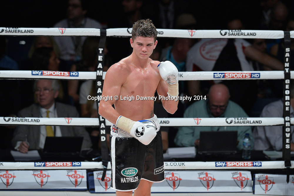 Luke Campbell defeats Krzysztof Szot in a Lightweight contest at the SSE Wembley Arena, London on the 20th September 2014. Sauerland Promotions. Credit: Leigh Dawney Photography.