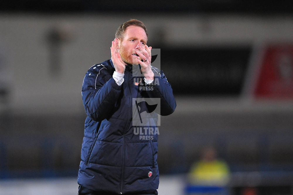 TELFORD COPYRIGHT MIKE SHERIDAN Telford boss Gavin Cowan during the Vanarama Conference North fixture between AFC Telford United and Blyth Spartans at The New Bucks Head on Tuesday, January 28, 2020.<br /> <br /> Picture credit: Mike Sheridan/Ultrapress<br /> <br /> MS201920-043