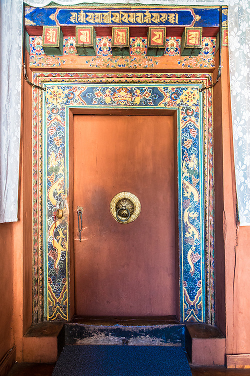 Monastery doorway in Bhutan