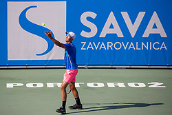 Anze Arh (SLO) play against Markus Eriksson (SWE) at ATP Challenger Zavarovalnica Sava Slovenia Open 2018, on August 5, 2018 in Sports centre, Portoroz/Portorose, Slovenia. Photo by Urban Urbanc / Sportida