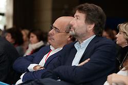 Foto LaPresse/Filippo Rubin<br /> 17/11/2019 Bologna (Italia)<br /> Cronaca Politica<br /> Assemblea Pd a Bologna - Eataly Fico Bologna<br /> Nella foto: Nicola Zingaretti e Dario Franceschini<br /> <br /> Photo LaPresse/Filippo Rubin<br /> November 17th, 2019 Bologna (Italy)<br /> Politics<br /> PD meeting- Fico Eataly World Bologna <br /> In the pic: NIcola Zingaretti and Dario Franceschini