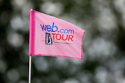 The Web.com and PGA logos are seen on a flag stick during the final round of the 2012 Price Cutter Charity Championship at Highland Springs Country Club on August 12, 2012 in Springfield, Missouri. (David Welker/www.TurfImages.com).