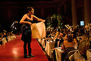 TRACEY EMIN HELPING SEEL THE PICTURE SHE DONATED. Chaos Point: Vivienne Westwood Gold Label Collection performance art catwalk show and auction in aid of the NSPCC. Banqueting House. London. 18 November 2008<br /> *** Local Caption *** -DO NOT ARCHIVE -Copyright Photograph by Dafydd Jones. 248 Clapham Rd. London SW9 0PZ. Tel 0207 820 0771. www.dafjones.com