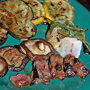 Hawaiian grill plate dinner