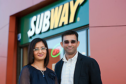 Development Agents for the SUBWAY® brand in Derbyshire and South Yorkshire, Rachana and Kiran Pancholi, today announced ambitious plans to increase the number of SUBWAY® stores in the region to 69 over the next five years, creating around 350 new jobs. ...http://www.pauldaviddrabble.co.uk.16 April 2012 .Image © Paul David Drabble