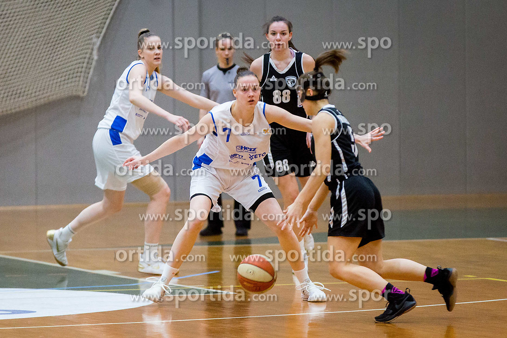Marusa Senicar of ZKK Triglav Kranj during basketball match between ZKK Triglav Kranj and ZKD Maribor in Round #1 of 1. Slovenian Woman basketball league, on February 20, 2018 in ŠD Planina, Kranj, Slovenia. Photo by Ziga Zupan / Sportida
