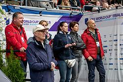 KOENLE Marc (Mannschaftstierarzt), THEODORESCU Monica (Bundestrainer Dressur GER), HILBERATH Jonny (Co Bundestrainer Dressur GER), WERNDL Micaela, WERNDL Klaus<br /> Göteborg - Gothenburg Horse Show 2019 <br /> FEI Dressage World Cup™ Final II<br /> Grand Prix Freestyle/Kür<br /> Longines FEI Jumping World Cup™ Final and FEI Dressage World Cup™ Final<br /> 06. April 2019<br /> © www.sportfotos-lafrentz.de/Stefan Lafrentz