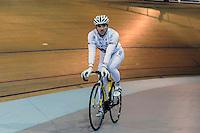 Francois Pervis - 27.01.2015 -Entrainement Equipe de France de cyclisme su piste <br /> Photo : Anthony Dibon / Icon Sport