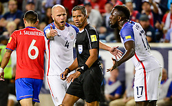 September 1, 2017 - Harrison, NJ, USA - Harrison, N.J. - Friday September 01, 2017:   Michael Bradley, John Pitti, Jozy Altidore during a 2017 FIFA World Cup Qualifying (WCQ) round match between the men's national teams of the United States (USA) and Costa Rica (CRC) at Red Bull Arena. (Credit Image: © Howard Smith/ISIPhotos via ZUMA Wire)