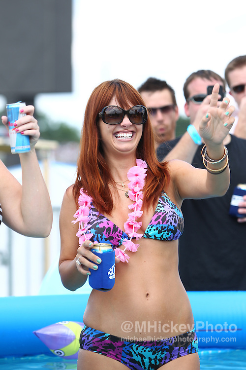 Playboy Playmate AJ Alexander appears at the Brickyard Bash during the Brickyard 400 NASCAR race at the Indianapolis Motor Speedway..Entertainment photography by Michael Hickey