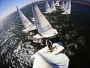 A view of the start during the second day of racing at the Mexican Masters Laser regatta in La Cruz, Mexico.