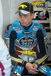 October 20, 2017 - Melbourne, Victoria, Australia - Spanish rider Tito Rabat (#53) of EG 0,0 Marc VDS in his garage before the first free practice session of the MotoGP class at the 2017 Australian MotoGP at Phillip Island, Australia. (Credit Image: © Theo Karanikos via ZUMA Wire)