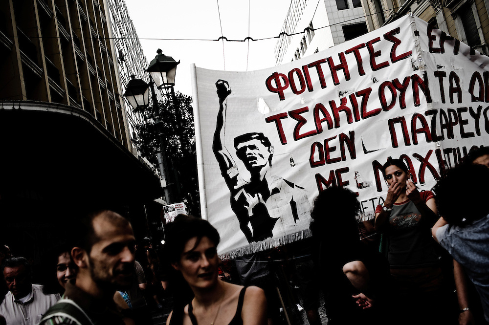12-05-2010. Demonstration against austerity measures organized by GSEE, ADEDY,  (Greece's major unions for the private and the public sector) and other unions, Athens, Greece.