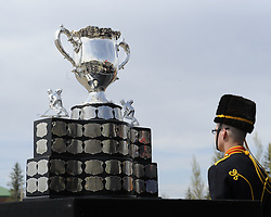 The Canadian Hockey League rededicated the Memorial Cup during a special ceremony at CFB Shilo on Thursday May 13. 2010 MasterCard Memorial Cup in Brandon, MB. Photo by Aaron Bell/CHL Images