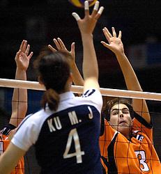 22-06-2000 JAP: OKT Volleybal 2000, Tokyo<br /> Nederland - Korea 3-1 / Francien Huurman
