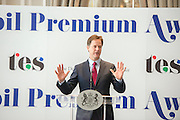 © Licensed to London News Pictures. 25/06/2014. London, UK. NICK CLEGG. The Deputy Prime Minister hosts an awards ceremony on Wednesday 25 June for schools from across the country who have won this year's Pupil Premium Awards. The awards are for schools that have shown that they can use the extra funding for pupils from disadvantaged backgrounds to narrow the attainment gap between them and their peers. Every region has a primary and secondary school winner, and a number of special schools are recognised for their achievement. The three overall national winners will also be announced at the event.. Photo credit : Stephen Simpson/LNP