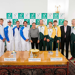 20130912: SLO, Tennis - Davis Cup, Slovenia vs South Africa Draw Ceremony