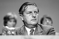 Sir Patrick Mayhew, MP, Conservative Party, UK, Solicitor General for England & Wales, 19840145PM2.<br /> <br /> Copyright Image from Victor Patterson, 54 Dorchester Park, Belfast, UK, BT9 6RJ<br /> <br /> t1: +44 28 9066 1296 (from Rep of Ireland 048 9066 1296)<br /> t2: +44 28 9002 2446 (from Rep of Ireland 048 9002 2446)<br /> m: +44 7802 353836<br /> <br /> victorpatterson@me.com<br /> www.victorpatterson.com<br /> <br /> Please see my Terms and Conditions of Use at victorpatterson.com . It is IMPORTANT that you familiarise yourself with them.<br /> <br /> Images used on the Internet incur an additional cost and must be visibly watermarked i.e. ©Victor Patterson within the body of the image and copyright metadata must not be deleted. Images used on the Internet have a size restriction of 4kbs and are chargeable at rates available at victorpatterson.com.<br /> <br /> This image is only available for the use of the download recipient i.e. television station, newspaper, magazine, book publisher, etc, and must not be passed on to any third party. It is also downloaded on condition that each and every usage is notified within 7 days to victorpatterson@me.com<br /> <br /> The right of Victor Patterson to be identified as the author is asserted in accordance with The Copyright Designs And Patents Act (1988). All moral rights are asserted.