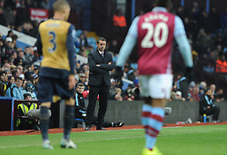 Arsenal Manager Arsene Wenger cuts a dejected figure - Mandatory byline: Dougie Allward/JMP - 13/12/2015 - Football - Villa Park - Birmingham, England - Aston Villa v Arsenal - Barclays Premier League