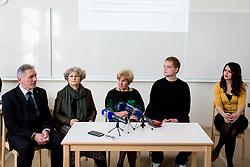 Tiskovna konferenca ob odkritju časovne kapsule v Gimnaziji Kranj, 8 marec, 2017 v Gimnaziji Kranj, Kranj, Slovenia. Photo by Ziga Zupan / Sportida