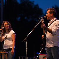 Pine Hill Project, featuring Lucy Kaplansky and Richard Shindell perfrom at the Green River Festival, Greenfield, MA, July 10, 2015