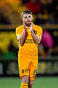 Steven Lawless (#15) of Livingston FC during the Ladbrokes Scottish Premiership match between Livingston FC and Heart of Midlothian FC at the Tony Macaroni Arena, Livingston, Scotland on 14 December 2018.
