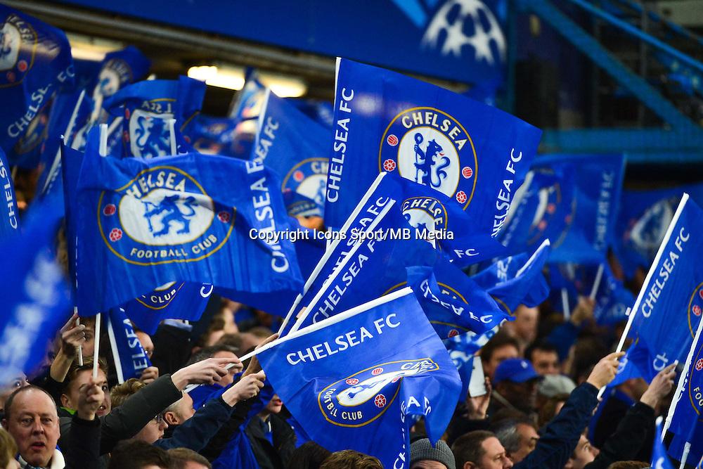Supporters Chelsea - 11.03.2015 - Chelsea / Paris Saint Germain - 1/8Finale retour Champions League<br /> Photo : Dave Winter / Icon Sport