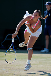 LONDON, ENGLAND - Monday, June 28, 2010: Ana Bogdan (ROU) during the Girls' Singles 1st Round match on day seven of the Wimbledon Lawn Tennis Championships at the All England Lawn Tennis and Croquet Club. (Pic by David Rawcliffe/Propaganda)