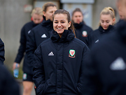BOLOGNA, ITALY - Tuesday, January 22, 2019: Wales' Megan Wynne during a pre-match walk at the team hotel in Bologna ahead of the International Friendly game against Italy. (Pic by David Rawcliffe/Propaganda)