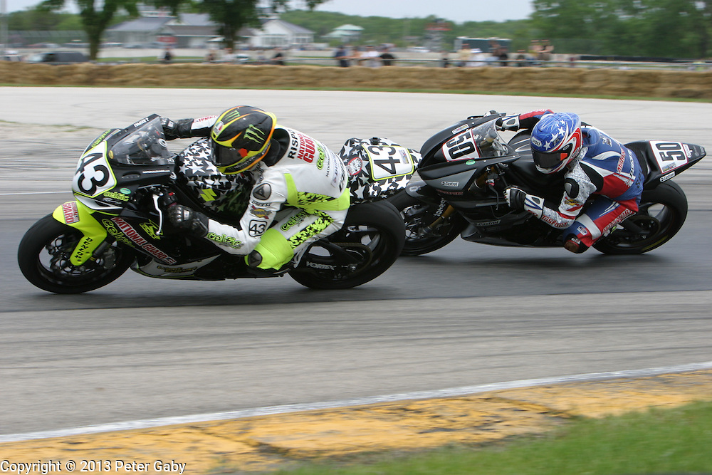 AMA Pro GoPro Daytona SportBike Race 1 during the 2013 Subway SuperBike Doubleheader held at  Road America,  Elkhart Lake,  WI. on June 1, 2013.<br /> <br /> AMA Pro GoPro Daytona SportBike Race 2 during the 2013 Subway SuperBike Doubleheader held at  Road America,  Elkhart Lake,  WI. on June 1, 2013.