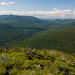 View if the Nash Stream State Forest from North Percy Peak in Stratford, New Hampshire.