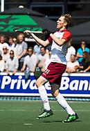 AMSTELVEEN -  Deegan Huisman (Almere)   Play Offs / Outs Hockey hoofdklasse.  Hurley-Almere (0-1) . Almere wint blijft in de hoofdklasse. COPYRIGHT KOEN SUYK