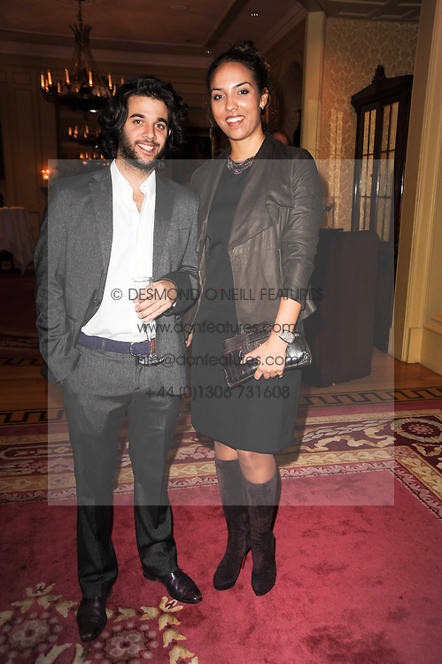 BENJAMIN KHALILI and PRINCESS ALIA AL SENUSSI OF LIBYA at a reception hosted by Films Without Borders at the Lanesborough Hotel, Hyde Park Corner, London on 27th October 2010.