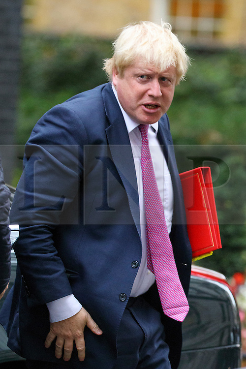 © Licensed to London News Pictures. 18/10/2016. London, UK. Foreign Secretary BORIS JOHNSON attends a cabinet meeting in Downing Street on Tuesday, 18 October 2016. Photo credit: Tolga Akmen/LNP